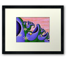 Inner Child - Happiness is Being a Purple Fish Framed Print
