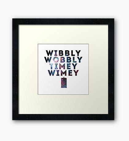 Wibby Wobbly Framed Print