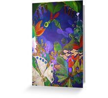 Flora vs Fauna Greeting Card
