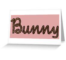 Rope Bunny Script Greeting Card