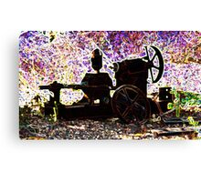 There is still life in that old farm equipment Canvas Print
