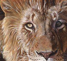 A Lion Face by artbyakiko