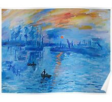 Impression, Sunrise Monet painting Soleil Levan Poster