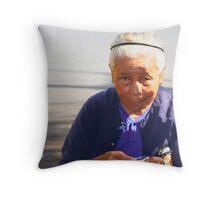 Saigon Stall Lady Throw Pillow