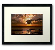 Sunset at Rainbowbeach. Framed Print