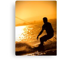 Wakeboarding at Sunset Canvas Print