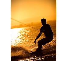 Wakeboarding at Sunset Photographic Print