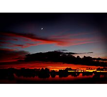 Under A Crescent Moon Photographic Print