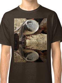 Little Dark-eyed Junco Preening At Pool Edge Classic T-Shirt