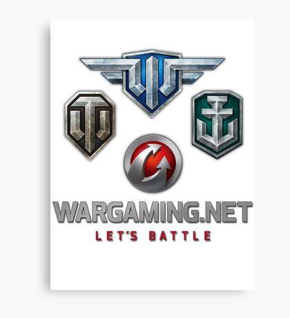 Wargaming MMO Logos Canvas Print