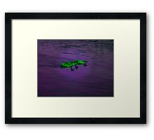 Green Duckies Framed Print