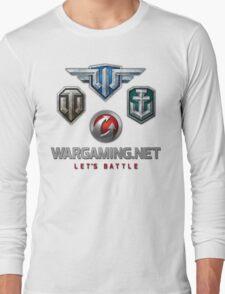 Wargaming MMO Logos Long Sleeve T-Shirt