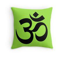 Om - Aum - Black Throw Pillow