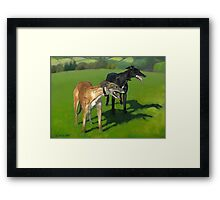 Greyhound Portrait - Oil on Canvas Framed Print