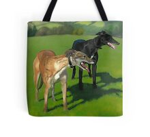 Greyhound Portrait - Oil on Canvas Tote Bag