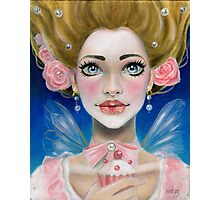 Marie Antoinette Let them eat cupcake in pink Photographic Print