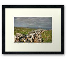 Burren Stone Walls Framed Print