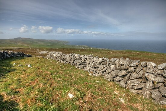 Stone Walls in The Burren by John Quinn