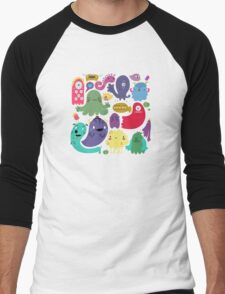 Colorful Creatures Men's Baseball ¾ T-Shirt