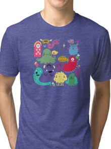 Colorful Creatures Tri-blend T-Shirt