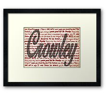 Crowley quotes Framed Print
