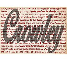 Crowley quotes Photographic Print