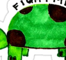 Turtle: fight me Sticker