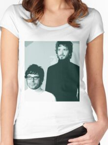 Flight of the Conchords- Family Portrait Women's Fitted Scoop T-Shirt
