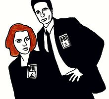 X-Files Mulder and Scully by Polly Bond