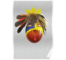 Feathered Gourd Mask Poster
