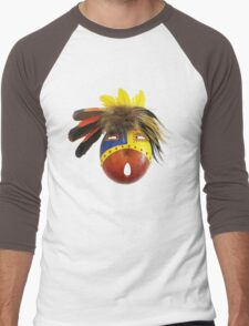 Feathered Gourd Mask Men's Baseball ¾ T-Shirt