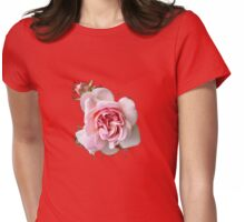 Pink Rose T SHIRT Womens Fitted T-Shirt
