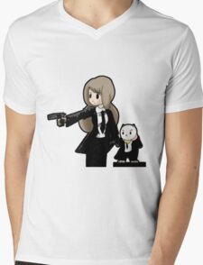 PuppyCat Fiction Mens V-Neck T-Shirt