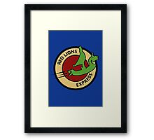 Red Lions Express Framed Print