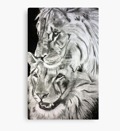 Brothers - Graphite Pencil Canvas Print