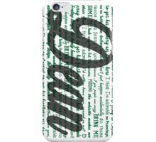 Dean quotes iPhone Case/Skin