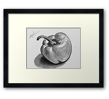 Shades of Grey Pepper Framed Print