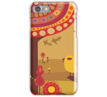 Retro Bird with Trees iPhone Case/Skin