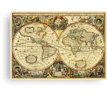 World Map 1641 Canvas Print