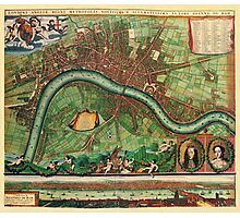London Map 1600s Photographic Print