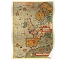 Europe Map 1584 Poster