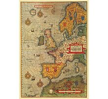 Europe Map 1584 Photographic Print