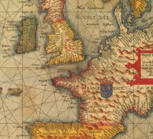Europe Map 1584 Sticker
