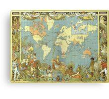 British Territories Map 1786 Canvas Print