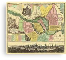 Berlin Map 1720 Canvas Print