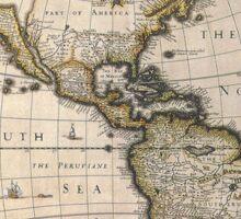 Americas Map 1626 Sticker