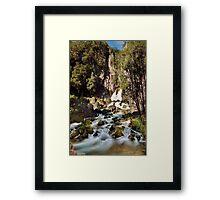 Tarawera Falls Rockface Framed Print