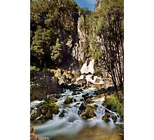 Tarawera Falls Rockface Photographic Print