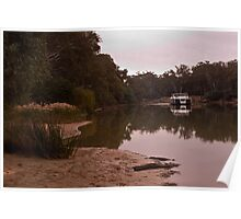 Murray River reflections and Houseboat Poster