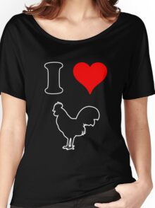 I Heart Cock tee Women's Relaxed Fit T-Shirt